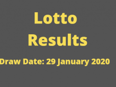 Lotto and Lotto Plus Results for Wednesday, 29 January 2020