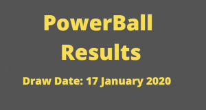 Powerball and Powerball Plus Results for Friday 17 January 2020