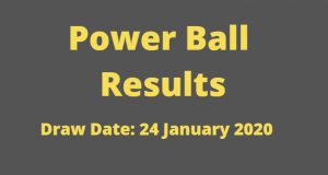 Powerball and Powerball Plus Results for Friday 24 January 2020