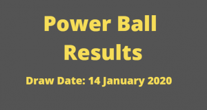 Powerball and Powerball Plus Results for Tuesday 14 January 2020