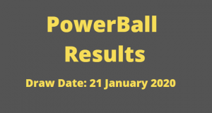 Powerball and Powerball Plus Results for Tuesday 21 January 2020