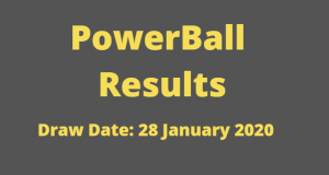 Powerball and Powerball Plus Results for Tuesday 28 January 2020