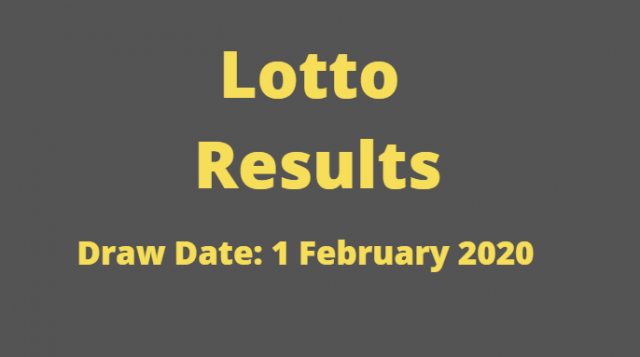 Lotto and Lotto Plus Results for Saturday, 1 February 2020