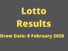 Lotto and Lotto Plus Results for Satursday, 8 February 2020