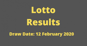 Lotto and Lotto Plus Results for Wednesday, 12 February 2020
