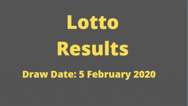 Lotto and Lotto Plus Results for Wednesday, 5 February 2020