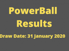 Powerball and Powerball Plus Results for Friday ,31 January 2020