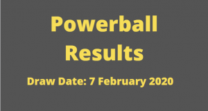 Powerball and Powerball Plus Results for Friday ,7 February 2020