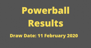 Powerball and Powerball Plus Results for Tuesday ,11 February 2020