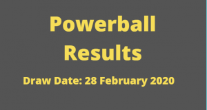 Powerball and Powerball Plus Results for Friday ,28 February 2020