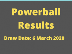 Powerball and Powerball Plus Results for Friday ,6 March 2020
