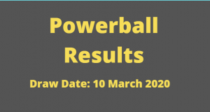 Powerball and Powerball Plus Results for Tuesday ,10 March 2020