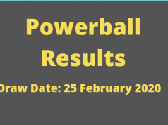 Powerball and Powerball Plus Results for Tuesday ,25 February 2020