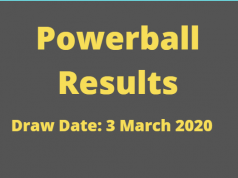 Powerball and Powerball Plus Results for Tuesday ,3 March 2020